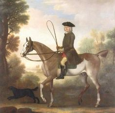 Georgian gentleman on horseback.