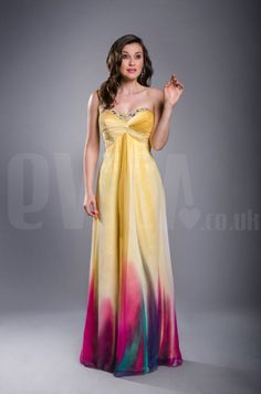 New Multicolour Chiffon Evening Prom Dress Ball Cruise Beaded Gown  Sizes UK8-22 £89.99