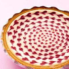 White Chocolate Raspberry Egg Cheesecake