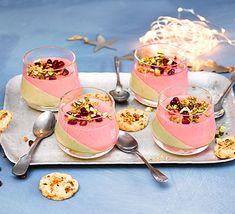 Winter berry & white chocolate pots recipe | BBC Good Food