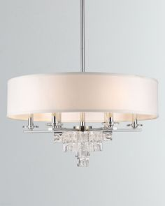 Shop Addison Polished Chrome Chandelier at Horchow, where you'll find new lower shipping on hundreds of home furnishings and gifts. Lighting Concepts, Lighting Design, Lighting Ideas, Led Light Design, Chandelier Shades, Polished Chrome, Wrought Iron, Light Fixtures, Bathroom Lighting