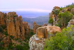 Visit the Valley of Desolation in Graaff Reinet, Eastern Cape. Graaff-Reinet is a Karoo town surrounded by the Camdeboo National Park - 19 000 ha of . World Most Beautiful Place, Beautiful Places To Live, Most Beautiful Beaches, Cities In Africa, Camping Places, Natural Wonders, South Africa, Places To Go, National Parks