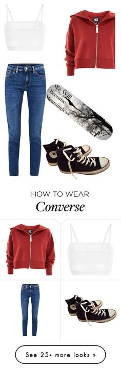 """""""._."""" by maqala on Polyvore featuring La Perla, Topshop, Acne Studios and Converse"""