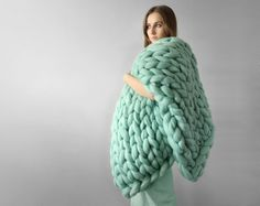 Oversized Knitted Blankets, Anna Mo.