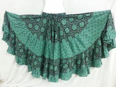 Hey, I found this really awesome Etsy listing at https://www.etsy.com/listing/223070475/25-yd-block-print-veg-dye-skirt-teal