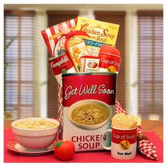 Get Well Soon Chicken Noodle Soup Gift Tote