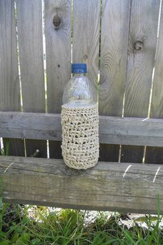Crocheted Hemp Plastic Bottle Beverage by SherrysSewingandCroc, $7.50