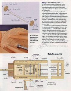 #1604 Rapid-Fire Rubber Band Gun - Wooden Toy Plans