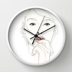 naked_Pirates Mania Wall Clock by SEVENTRAPS | Society6