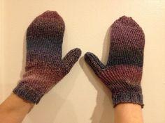 Sock Loom Knit Mittens