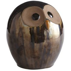 "Bronze Finish Owl - Small, <8"" high. 14.95 on sale for 11.96."