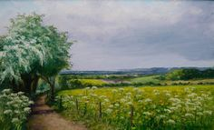 Flower meadow in Spring by Brian Bennett  #brianbennettartist #francisilesgallery  Copyright remains with the artist.