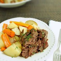 Best Slow Cooker Beef Roast   Back To The Book Nutrition