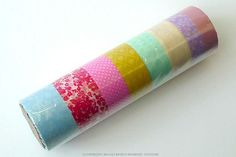 Mini starter kit FLORAL16B Washi tape. Set of 8 made in Japan $13.00