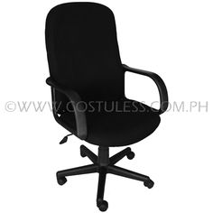 Product Code: HBC-155  Sale Price:	P2 999.00  Description:  Ergodynamic™ High Back Office Chair, Fabric Upholstery, 300mm Nylon Base & Nylon Casters, Tilt Lock Mechanism, Swivel Function, Pneumatic Height Adjustment  Chair Capacity: 70kgs.  Classification: LIGHT DUTY  Usage: HOME OFFICE USE