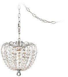 Possini Euro Crystal 10 1/4-Inch-W Swag Pendant Light - #EUY9111 - Euro Style Lighting