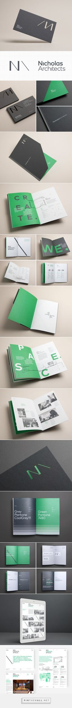 Nicholas Architects | Brand Identity on Behance... - a grouped images picture - Pin Them All