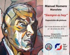"Exposición de pintura ""Siempre es hoy"" de Manuel Romero (Manolete). Estará abierta al público desde el domingo 10 de diciembre hasta el 1 de enero de 2018. La inauguración será el Domingo 10 de diciembre de 2017 a las 19:30 hs.   #Exposición #Exposiciónpictórica #Pinturas Thing 1, Baseball Cards, December, Domingo, Activities, Paintings"