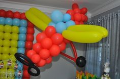 Airplane Balloon Jacob's Birthday this would be so cute!