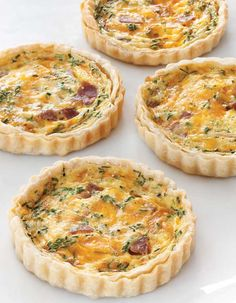 Country Ham and Smoked Cheddar Quiche