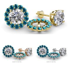 These Pleasant have 28 Round beautifully set using Prong Setting which decorates your own favorite pair of wear, simply slip your Round Stud through the Jackets. - EXTRA OFF - Money Back Guarantee Diamond Stud, Halo Diamond, Diamond Earrings, Stud Earrings, Fine Jewelry, Women Jewelry, Jewellery, Jacket Earrings, Jewels