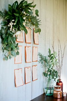 Chic Rustic Seating Chart I Kristyn Hogan photography Dusty Blue, Rustic Seating Charts, Earthy Color Palette, Seating Plan Wedding, Seating Plans, Copper Wedding, Botanical Wedding, Nashville Wedding, Deco Table