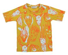 Collector TShirt in Tangerine and Blue Mint by thiefandbanditkids, $40.00