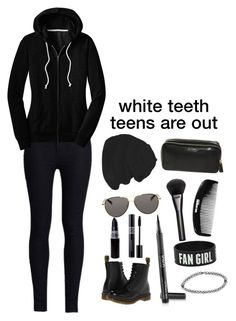 """all black tag ;3"" by a-lily-bit-of-everything ❤ liked on Polyvore featuring Rodarte, The Row, Anya Hindmarch, Gucci, Boohoo, Dr. Martens and tumblr"