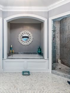 Spa bath with Carrera marble, dual sinks and vanities, soaking tub, separate shower and elegant light fixtures. Listed in Vienna, Virginia for $1.6M by The Casey Samson Team is a Wall Street Journal Top Team in Northern Virginia