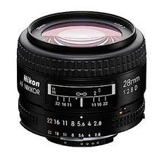 Nikon Lenses prime lens wide angle Lenses Nikon AF NIKKOR 28mm f/2.8D - Cameras Direct AUSTRALIA