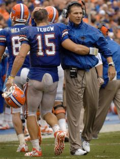 Tim Tebow wet football pants.