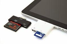Card readers met opslagkaarten om foto's op te slaan of om te gebruiken om foto's op de ipad op te slaan - Best iPad Accessories
