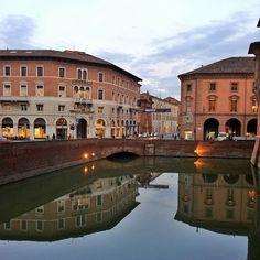 Scende la sera a Ferrara - Instagram by rayfilippo