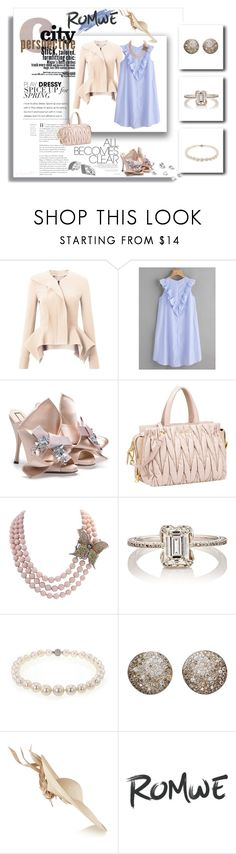 """Romwe City Perspective"" by emperormpf ❤ liked on Polyvore featuring Roland Mouret, N°21, Cathy Waterman, Pomellato and Philip Treacy"