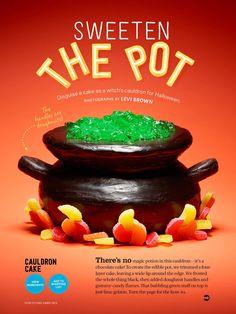 Cauldron cake from food network magazine