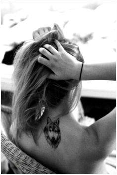 Creativity of Designing the Wolf Tattoo Designs: Small Wolf Tattoo Designs For Girl On Back ~ Tattoo Design Inspiration