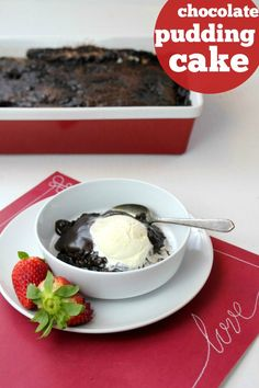 Chocolate pudding cake is pretty incredible. The soft, crackly cake layer rises to the top, and the rich hot fudge pudding sinks to the bottom. Köstliche Desserts, Delicious Desserts, Dessert Recipes, Cookbook Recipes, Dinner Recipes, Chocolate Pudding Cake, Chocolate Desserts, Hot Fudge, Brownie Recipes