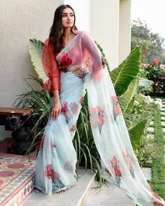 Buy beautiful Designer fully custom made bridal lehenga choli and party wear lehenga choli on Beautiful Latest Designs available in all comfortable price range.Buy Designer Collection Online : Call/ WhatsApp us on : Sari Blouse Designs, Fancy Blouse Designs, Blouse Patterns, Lehenga Choli, Anarkali, Bridal Lehenga, Sabhyasachi Sarees, Lehenga Crop Top, Indian Sarees
