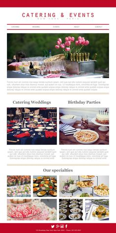 catering email template - the menu campaign highlight your special dishes with