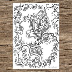 Printable Adult Coloring Pages, Adult Coloring Book Pages, Coloring Sheets, Coloring Books, Sharpies, Geometric Coloring Pages, Mandala Coloring, Rainbow Pages, Butterfly Coloring Page