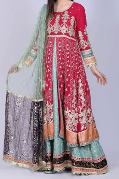 Pakistani Dress Design, Pakistani Designers, Pakistani Dresses, Frock For Teens, Designer Wear, Designer Dresses, Viscose Fabric, Formal Wear, Frocks