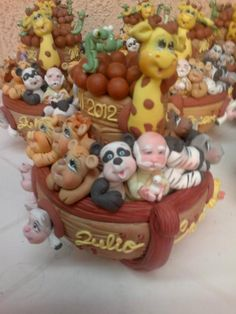 Modelos de centro de mesa personalizados de Arca de Noe en porcelana fria