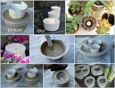DIY Cement Candle Holders
