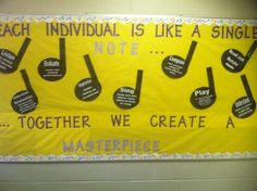 Motivational Music Room Bulletin Board Idea