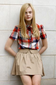 Elle Fanning photographed during the Venice International Film Festival. (Photo by Kurt Krieger/Corbis via Getty Images) Cute Outfits For Kids, Cool Outfits, Fashion Outfits, Dakota And Elle Fanning, Luanna Perez, Girls In Mini Skirts, School Girl Outfit, Russian Models, Celebrity Pictures