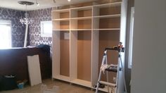 Cabinetry going in today