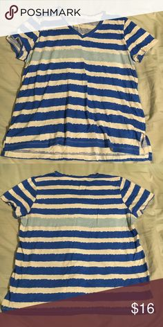 Style&Co striped shirt, 1X Style&Co sport striped shirt, 1X. Good condition! Style & Co Tops Tees - Short Sleeve