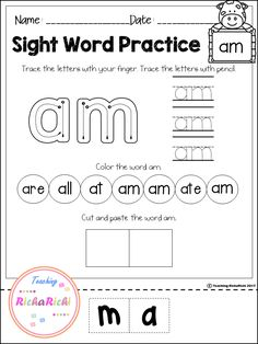 FREE Sight Word (Primer) activities.