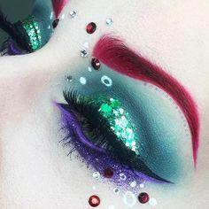 Disney Eye Makeup, Ariel Makeup, Disney Inspired Makeup, Disney Princess Makeup, Little Mermaid Makeup, Make Up Tutorial Contouring, Halloween Karneval, Make Up Inspiration, Character Makeup
