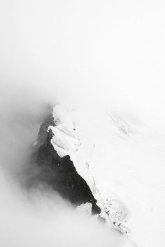 Glacier in the clouds | winter . Winter . hiver | Inspiration @ Made in World |